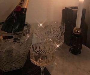 crystal, wine, and moet image