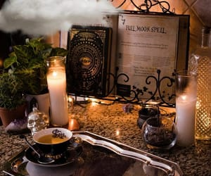 full moon, spell, and witchcraft image