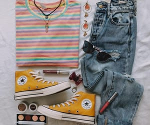 blue, fashion, and stripes image