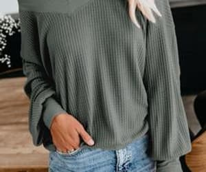 apparel, green, and vneck image
