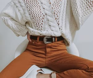 brown and white, khakis, and brown image