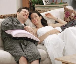 chandler bing, couple, and friends tv show image
