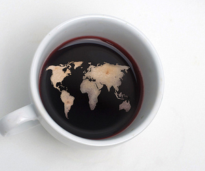 coffee, world, and map image