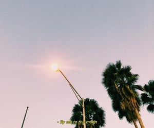 aesthetic, moon, and baby blue image
