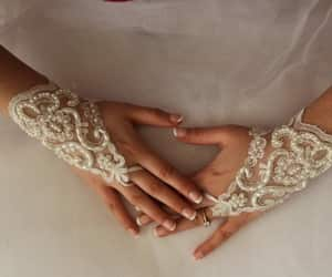 accessory, weddings, and wedding gloves image