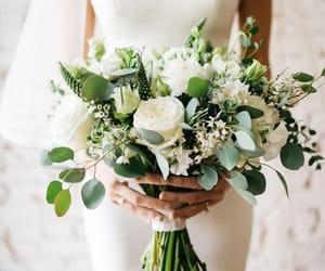 flowers, greenery, and wedding bouquet image
