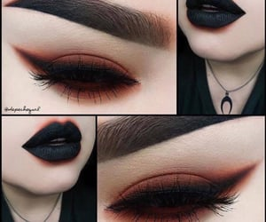 black lipstick, inspo, and inspiration image