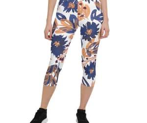 floral leggings, handpainted flower, and botanical leggings image
