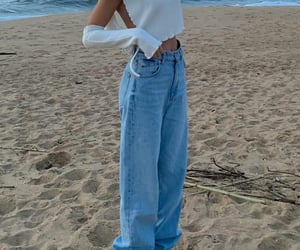 beach day, blogger, and fashion image
