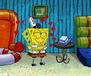 amarillo, bob esponja, and amor image