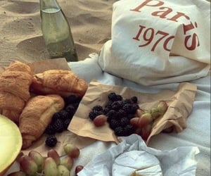 beach, france, and grapes image