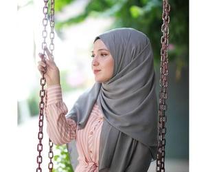 dress, abaya, and hijab image