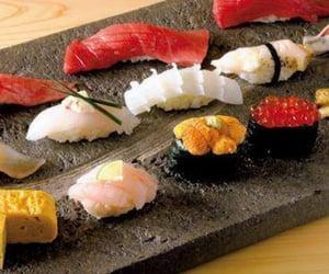 food, japanese food, and sushi image