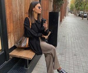blogger, coffe, and fashion image