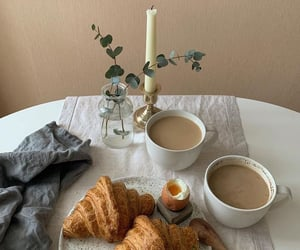breakfast, candle, and care image