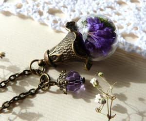 dark purple, unique jewelry, and fuchsia image