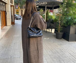 blogger, street wear, and plaid coat image