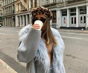 coffee, girl, and ny image