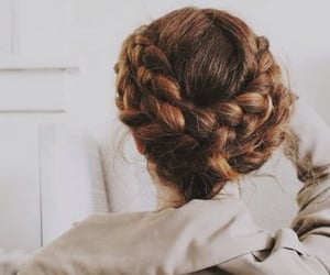 hairstyle, redhead, and braid image