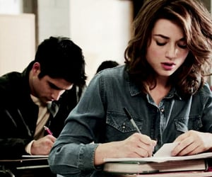 school, crystal reed, and studying image