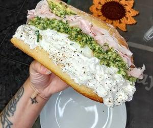 burrata, sandwich, and food image