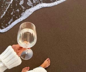 beach, chill, and drink image