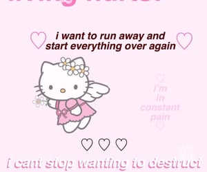 HelloKitty, quote, and sad image