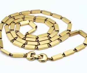 bead necklace, gold plated, and gift for her image