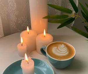 candles and coffee image