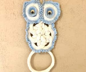 etsy, 1970s owl, and kitchen towel holder image