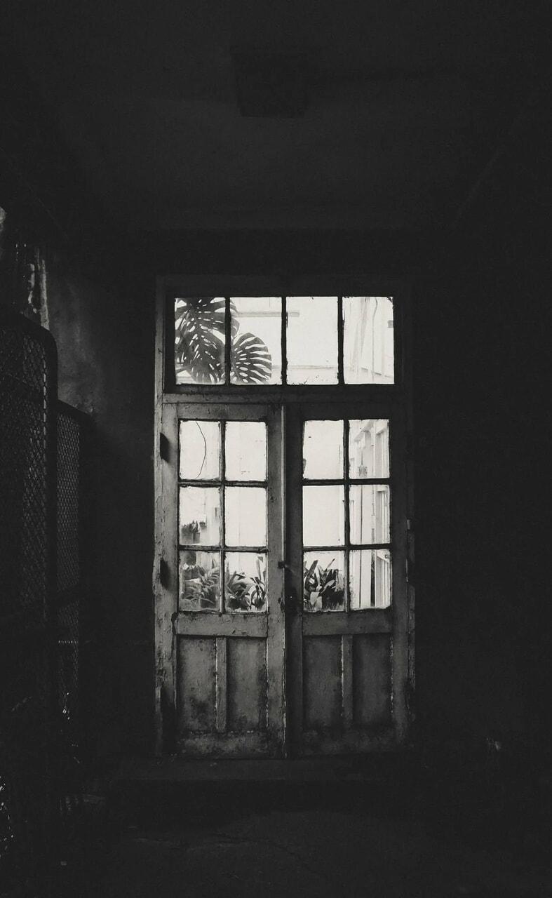 black, flowers, and door image