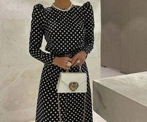 black&white, dots, and fashion image