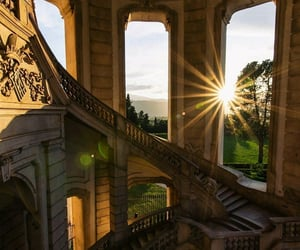 architecture, interior, and golden hour image