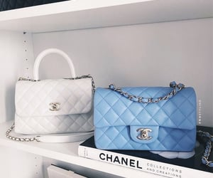 bags, blue, and chanel image