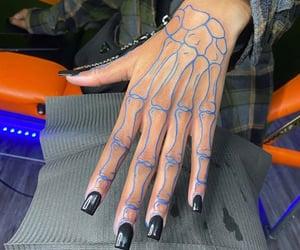 art, nails, and tattoo image