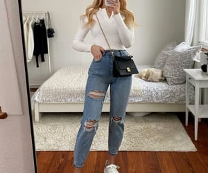 ripped jeans and mom jeans image