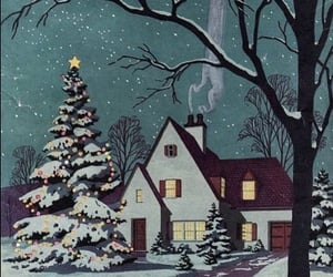 cartoon, christmas, and snow image