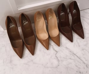 brown, christian louboutin, and fashion image