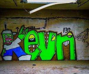 abandoned, urban exploration, and graffiti image