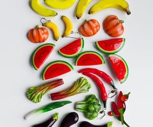 banana, bright colors, and green image