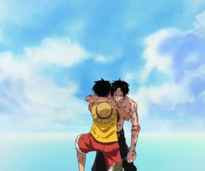 ace, pirates, and monkey d. luffy image