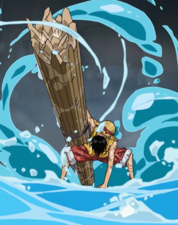 anime, fight, and monkey d. luffy image