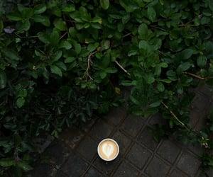 coffee art, black, and coffee image