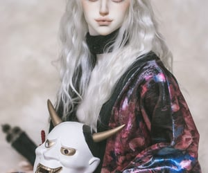 bjd, doll, and white hair image