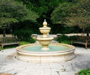 peaceful, water fountain, and pleasing image