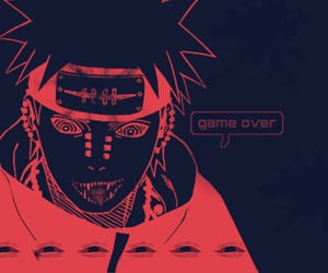 eyes, red, and game over image