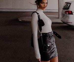 bag, skirt, and influencer image