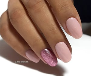 nails, manicure, and rose image