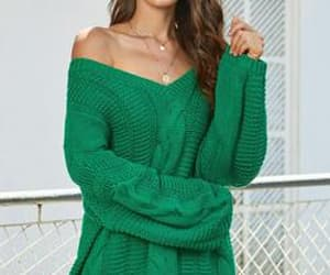 apparel, sweater, and vneck image