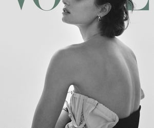black and white, cover, and fashion image